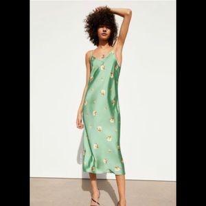 Zara Floral Satin Dress